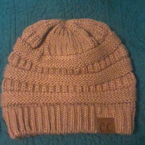 C.C light brown winter hat